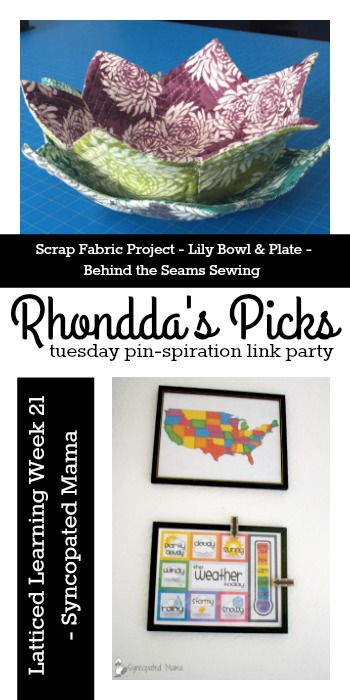 Tuesday Pinspiration Link Party Rhonddas Picks Behind the Seams Sewing and Syncopated Mama