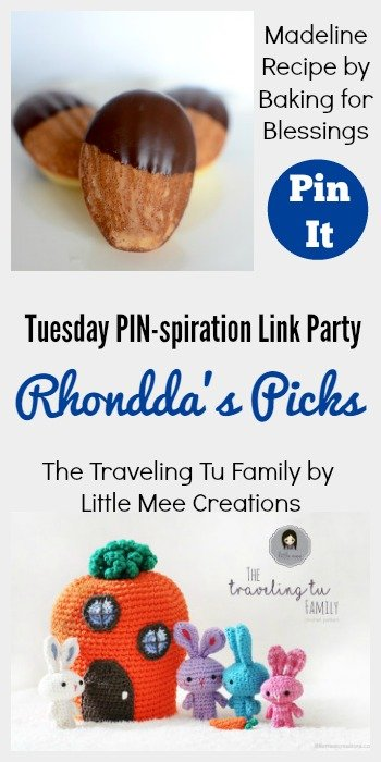 Rhondda's Picks | Madeline Recipe/The Traveling Tu Family | Tuesday PIN-spiration Link Party