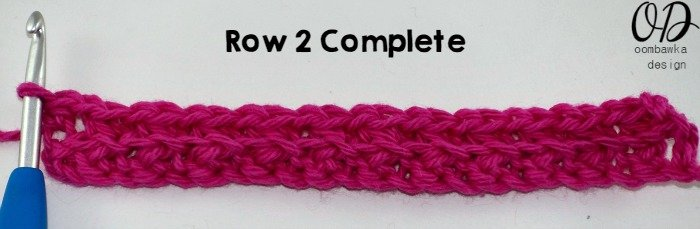 Single Crochet Cluster Row 2 Complete