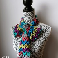 Rainbow of Butterflies Scarf – March Scarf of the Month Club Free Pattern
