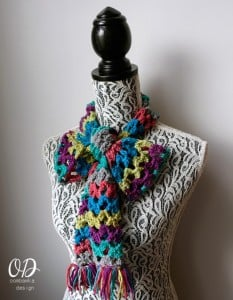 Rainbow of Butterflies Scarf Pattern