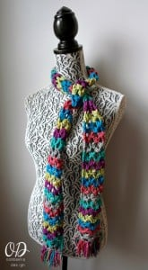 Tied Scarf of the Month Club - March - Rainbow of Butterflies