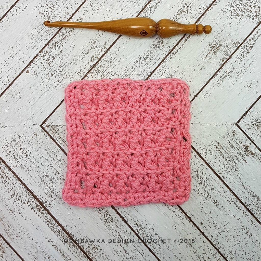 Single Crochet Cluster Stitch Dishcloth Oombawka Design Crochet