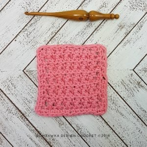 Single Crochet Cluster Stitch Dishcloth – Free Pattern and Tutorial