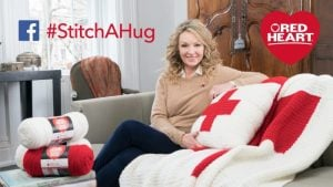 #StitchAHug with Red Heart and the Red Cross North America