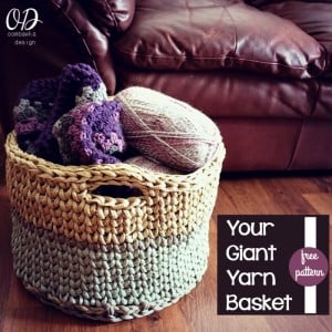 Your Giant Yarn Basket | Free Crochet Pattern