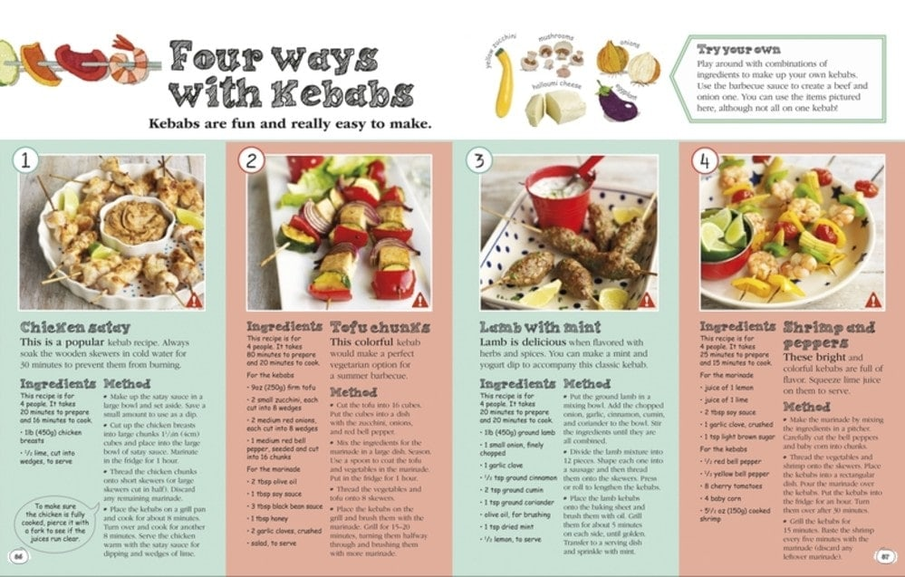 Four Ways with Kebabs - Complete Children's Cookbook Review