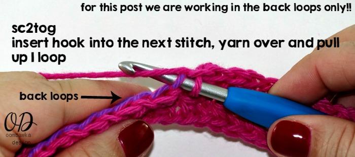 Single Crochet Cluster Stitch 1