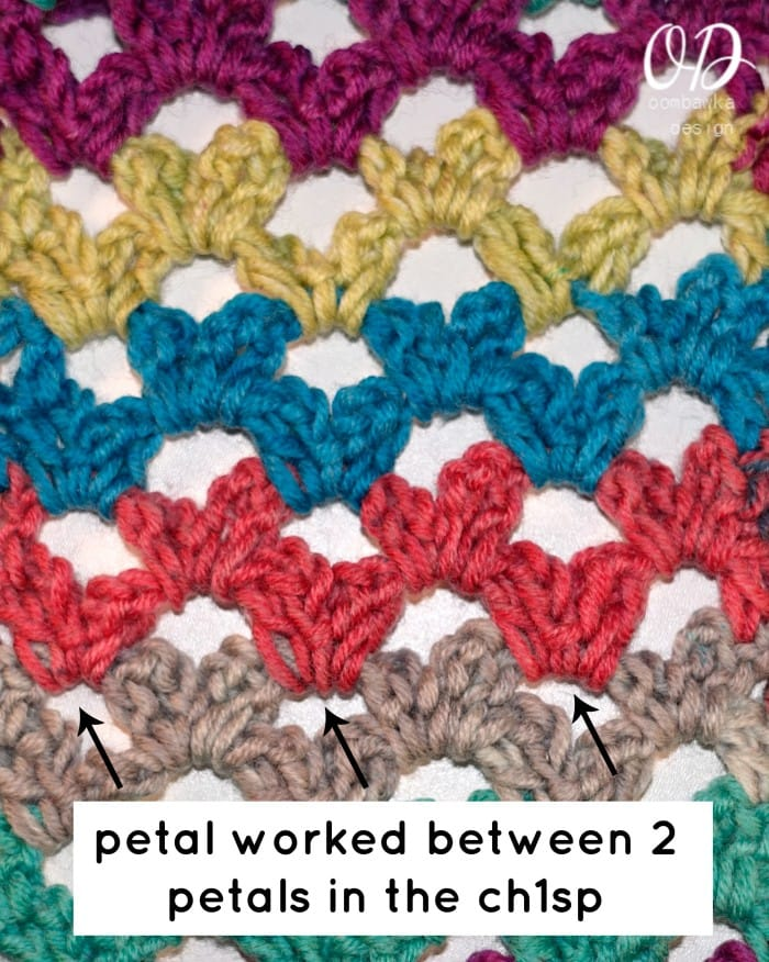 where to work petals - Scarf of the Month Club - March - Rainbow of Butterflies