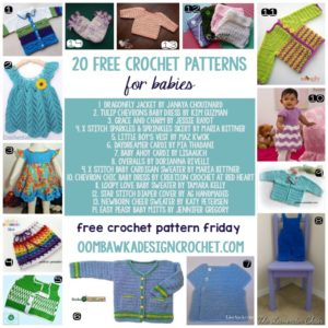 20 Free Crochet Patterns for Babies - oombawkadesigncrochet.com
