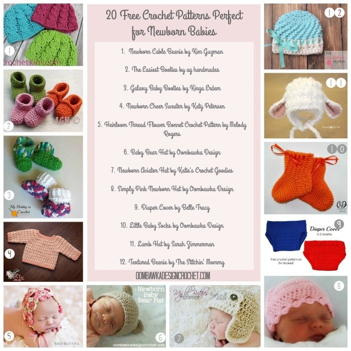 20 Free Crochet Patterns Perfect For Newborns Oombawka Design Crochet