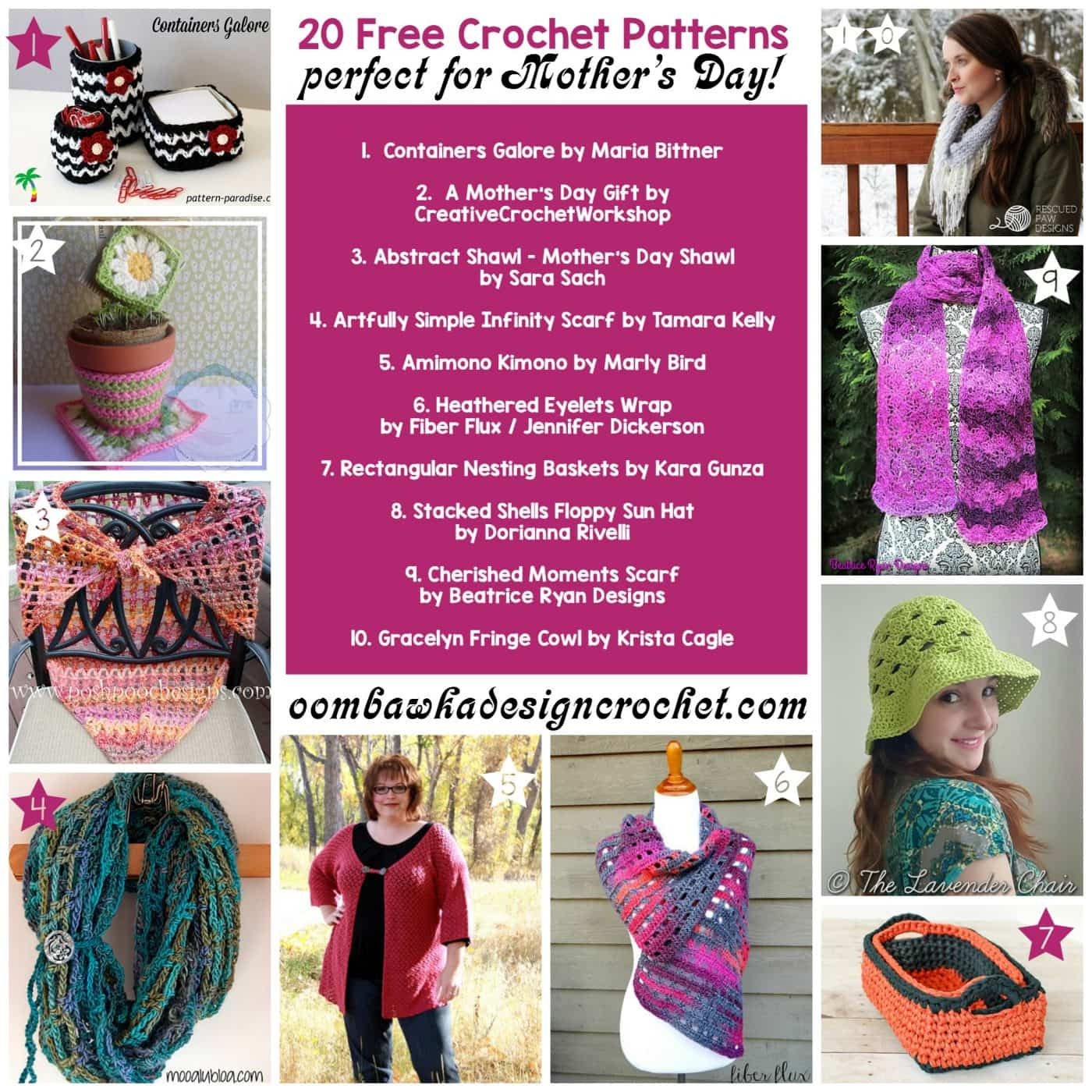 Crochet Patterns For Mother s Day : 20 Free Crochet Patterns Perfect for Mothers Day ...