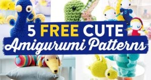 5 Free Cute Amigurumi Patterns oombawkadesigncrochet.com
