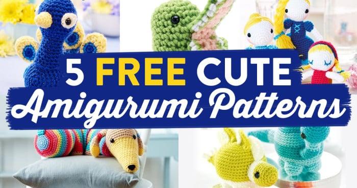 Cute Amigurumi Patterns Free : 5 FREE Cute Amigurumi Patterns Oombawka Design Crochet
