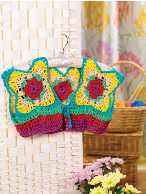 Bolero - 7 Granny Square Patterns You'll Love | oombawkadesigncrochet.com