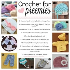 Crochet For Preemies Round Up oombawkadesigncrochet.com