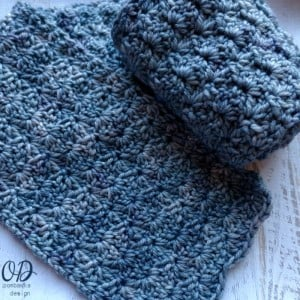 To Nana With Love Scarf - of the Month Club April - oombawkadesigncrochet.com