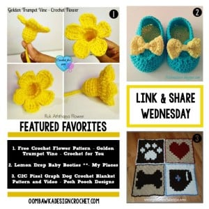 This Week's Features: Link and Share Wednesday at oombawkadesigncrochet.com