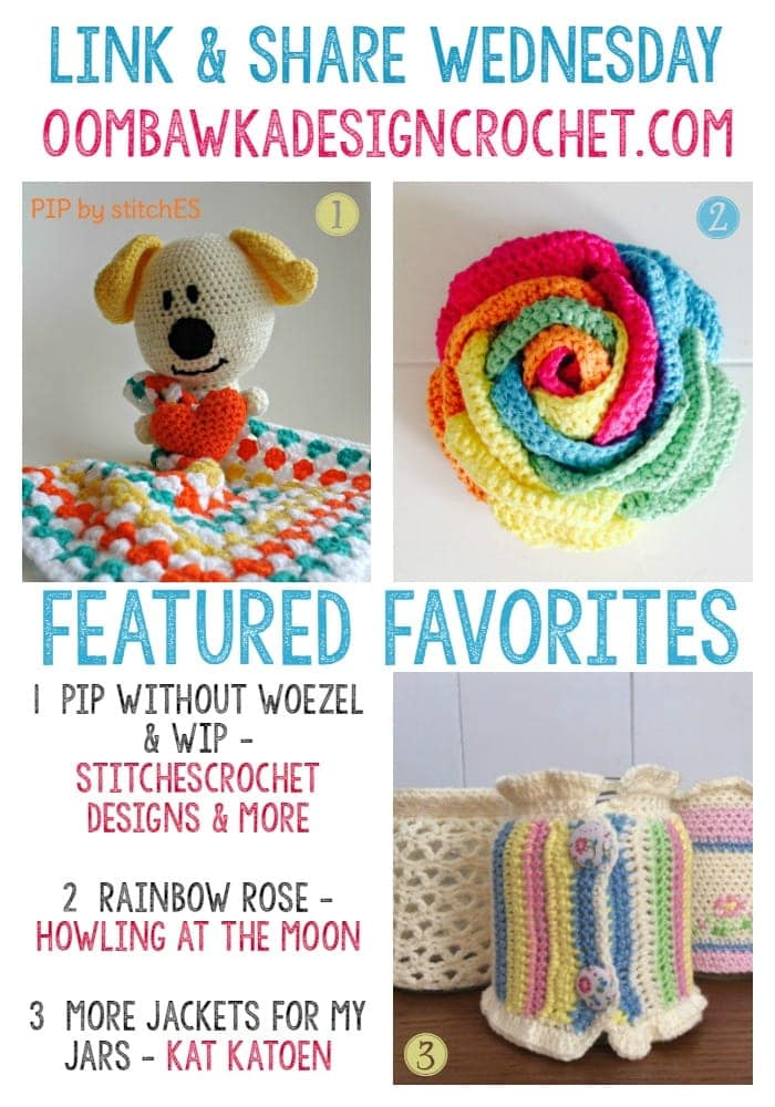 Featured Favorites Link and Share Wednesday - Jar Jackets, Rainbow Rose, Pip the Pup