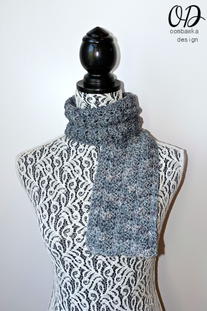 To Nana With Love Scarf - Scarf of the Month Club April - by OombawkaDesignCrochet