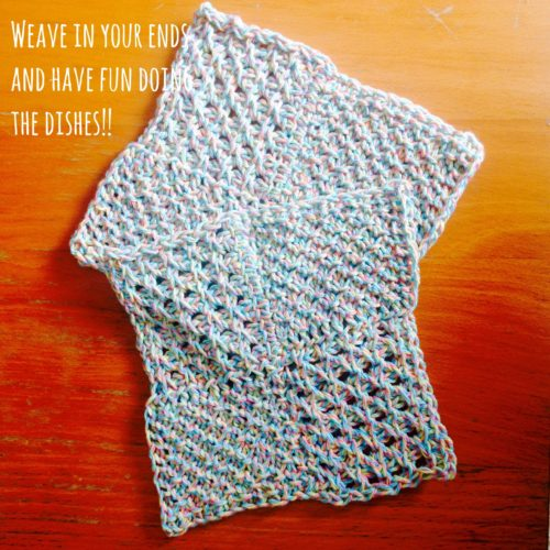 Springtime Pinwheel Dishcloth
