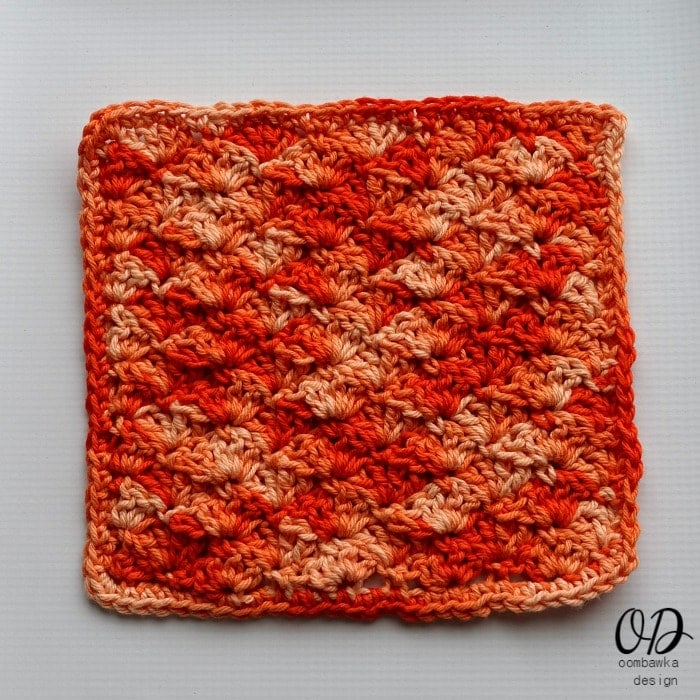 Orange Explosion Dishcloth oombawkadesigncrochet.com