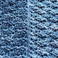 To Nana With Love Scarf - both sides close up - Scarf of the Month Club April by OombawkaDesign