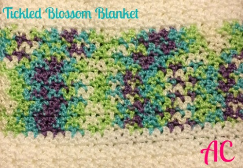 April Featured Charity - Crafting a Rainbow of Hope - Free Pattern - Tickled Blossom Blanket - as seen on oombawkadesigncrochet.com