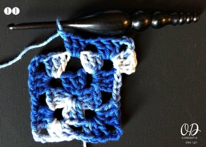 11 Granny Square Tutorial and Pattern - Kitchen Crochet oombawkadesigncrochet.com