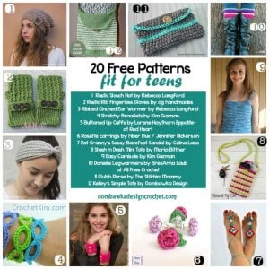 20 Free Crochet Patterns FIT FOR TEENS