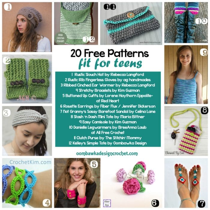 Free Pattern Friday - 20 Free Crochet Patterns Fit For Teens!