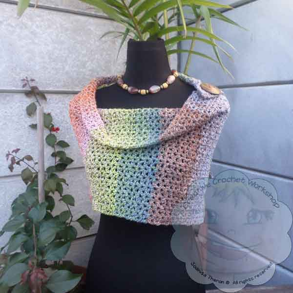 Lacy V Stitch Shawl Free Crochet Pattern