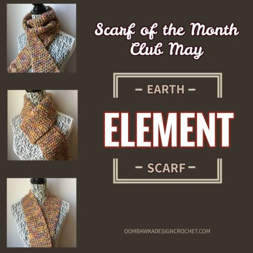Cover - Earth Element Scarf of the Month Club May - oombawkadesigncrochet.com