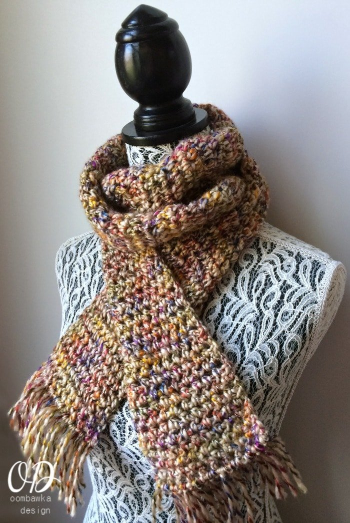 Earth Element Scarf of the Month Club May - oombawkadesigncrochet.com