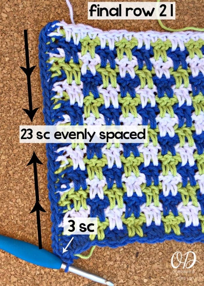 Edging Side 1 - Easy Peasy Blueberry Lime Squeezy Dishcloth