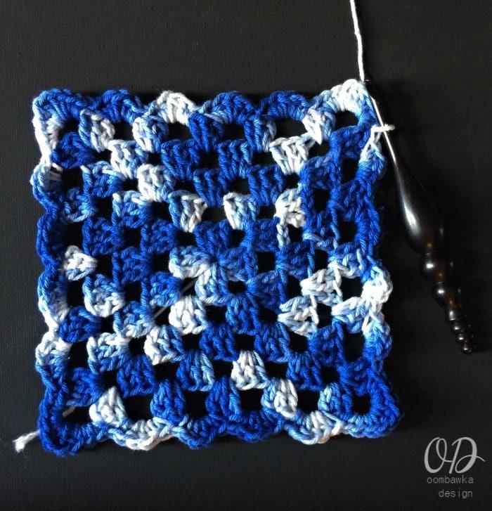 Granny Square Tutorial and Pattern - Kitchen Crochet oombawkadesigncrochet.com