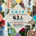 I Like Crochet May Sale! 43% Off but only until May 22nd, 2016.