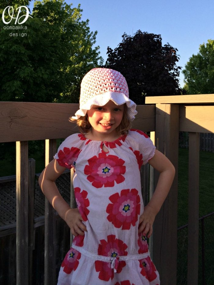 Shes So Sassy Sunhat Free Crochet Pattern Newborn to Adult oombawkadesigncrochet