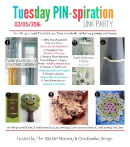 Follow Our Favorite Pinterest Boards – DIY, Sewing, Recipes, Crochet are Featured this week!