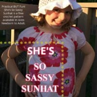 She's SO Sassy Sunhat Free Crochet Pattern