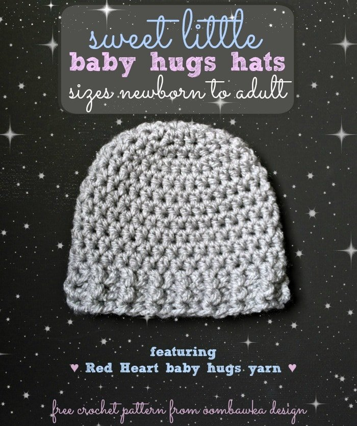 The Perfect Hat for Babies and Chemo Caps - Sweet Little Baby Hugs Hats - a free crochet pattern for all your charity crochet hat projects. #crochet #freepattern #chemocap