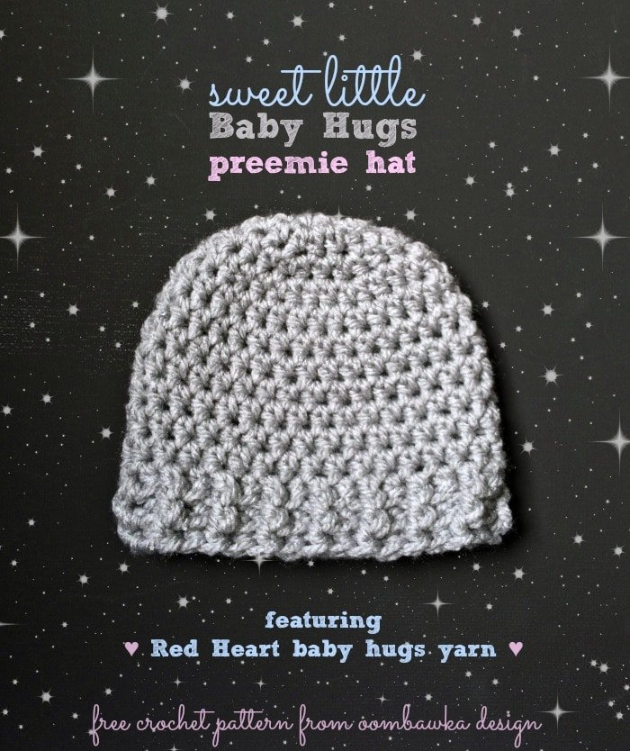 The Perfect Hat for Babies and Chemo Caps - Sweet Little Baby Hugs Hats - a free crochet pattern for all your charity crochet hat projects.