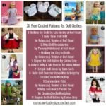 20 Free Crochet Patterns for Doll Clothes