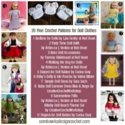 20 Free Patterns for Doll Clothes