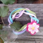 Rainbow String Flower Necklace from Creative Crochet Workshop