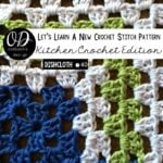 Mitered Granny Square Dishcloth #40