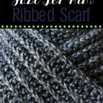Just For Him Classic Ribbed Scarf Free Scarf of the Month Club Crochet Pattern for June oombawkadesigncrochet