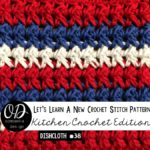 Red White and Blue Dishcloth- LLANCS