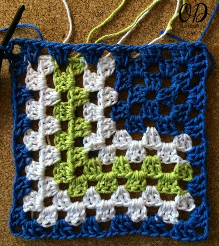 Row 9 Complete Mitered Granny Dishcloth