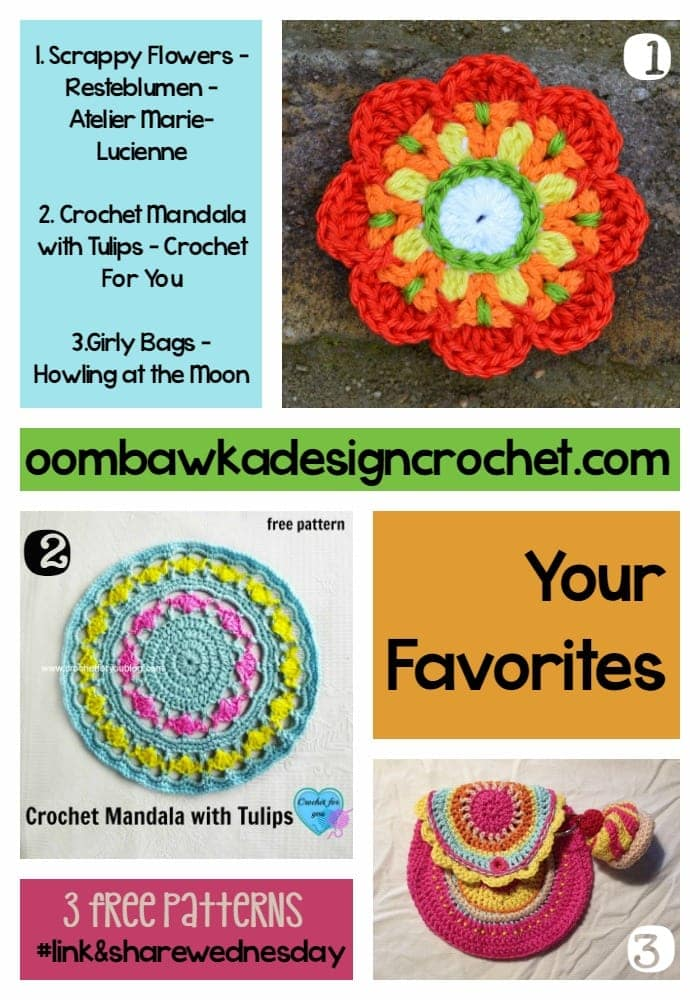 Scrappy Flowers Tulip Mandala Girly Bags Featured Favorites oombawkadesigncrochet